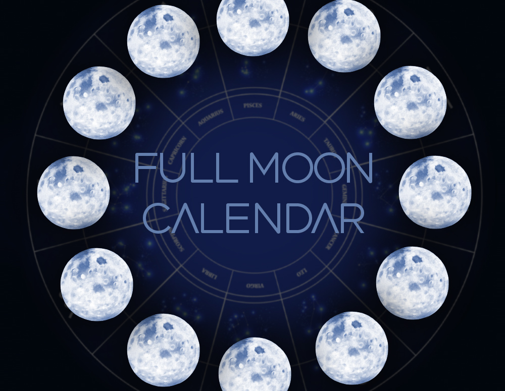 Calendario Lunar 2020.2018 Full Moons And New Moons